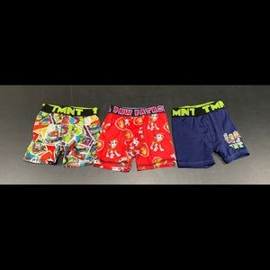 Other - 3 Pairs Boys Boxers Size 4T Paw Patrol & TMNT